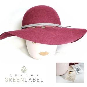 NEW Quagga Green Label 100% wool floppy hat